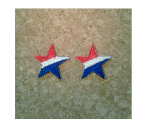 Patriotic Crafts 2PCS Stars Star July 4th-Embroidered Iron On Patches