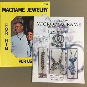 Lot of 2 macrame jewelry craft books The New Micro Macrame & Macrame Jewelry