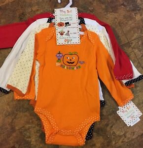 Baby Gear My First Holiday Grow With Me Bodysuit Set 3-6 M and 6-9 M ... d666d4c248