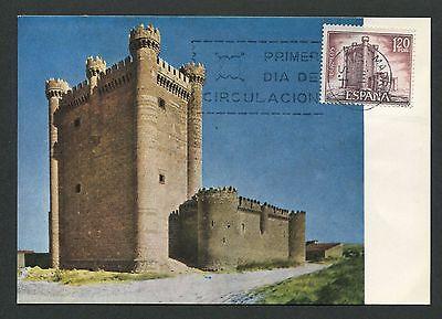 Maxi Cards Topical Stamps Spain Mk 1968 Castillo Burg Castle Chateau Maximumkarte Maximum Card Mc Cm D3792 High Standard In Quality And Hygiene