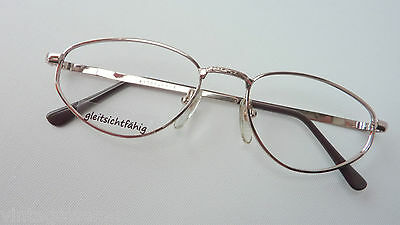 M Brillenfassungen Gormanns Metallbrille Unifarben Für Damen 53-17 Sehr Dezent Real Vintage Gr
