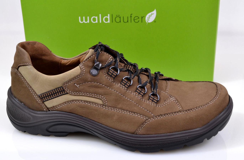 NEU Waldläufer Herren Wander Schuhe Schnürschuhe Trekking braun Weit