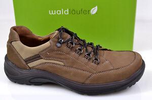 Details zu NEU Waldläufer Herren Wander Schuhe Schnürschuhe Trekking braun Weit