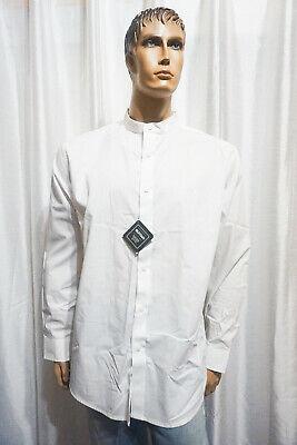 Details about  /RUFFIAN Threads Heirs men regular fit button down band collar dress shirt XL NEW