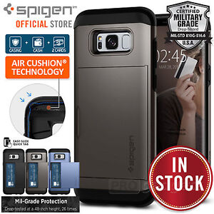 wholesale dealer 887a0 e8f8d Details about Galaxy S8/S8 Plus/S7/S7 Edge Case,Genuine SPIGEN Slim Armor  CS Cover for Samsung