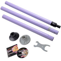 Dance Pole Full Kit Portable Stripper Exercise Fitness Club Party Dancing Purple on sale