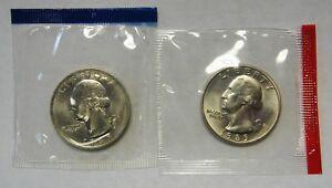 1978-P /& 1978-D Gem BU Washington Quarters in Original Mint Cello Packs FREE S/&H