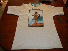 vintage native american indian print t shirt mens large made in usa