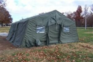 Image is loading 034-USED-034-Military-Expandable-Modular-Temper-Tent- & USED