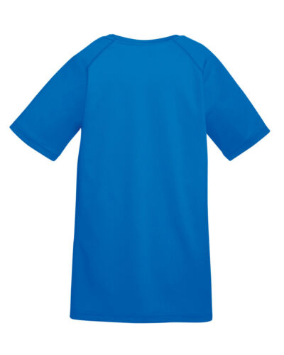 FRUIT OF THE LOOM Bambini/'s Performance T-shirt traspirante sport calcio PE Taglie