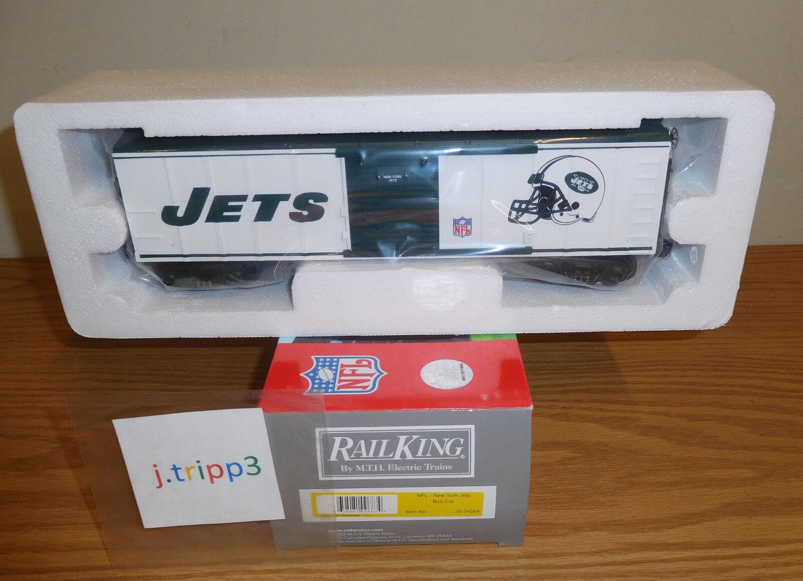 MTH Railking 30-74264 New York Jets coche de caja o calibre Juguete Tren Nfl Football Nuevo En Caja