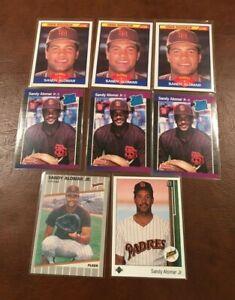Lot-SANDY-ALOMAR-JR-8-cards-RC-ROOKIES-Score-Donruss-Upper-Deck-Fleer