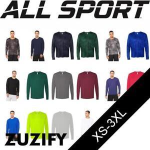 1db36f3e08c2 All Sport Mens Polyester Interlock Sports Long-Sleeve T-Shirt. M3009 ...