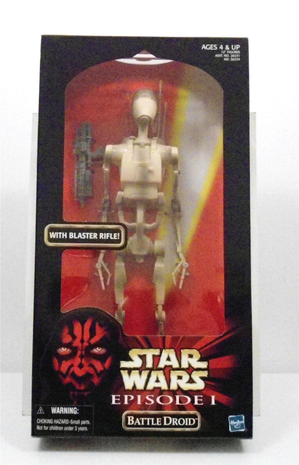 100% precio garantizado Estrella Wars episodio 1 Battle Droid con rifle bláster figura figura figura de 12 pulgadas  buena calidad
