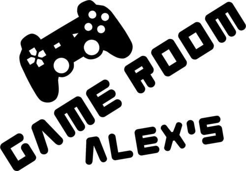 Personalised Boys Room Door Vinyl Sticker XBOX or Playstation