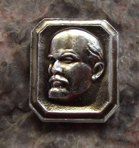 VI Lenin Bust in Picture Frame Soviet Union Leader Political Communism Pin Badge