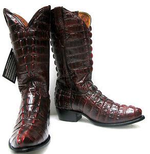 f8c326929c4 Men's Crocodile Alligator Tail Cut Full Leather Cowboy Western ...