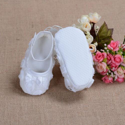 Baby Mädchen Blumen Schuhe in Weiß Pink Pink Lila Rotes Schwarz 6 9 12 15 Months