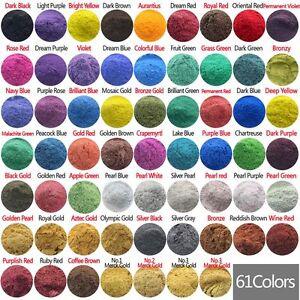 50g Cosmetic Grade Natural Mica Powder Pigment Soap Candle Colorant Dye 61 Color
