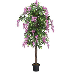 6 ft Artificial Wisteria Tree Indoor Outdoor Natural Decor Realistic Wood Plants