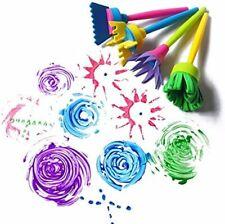 SET 4 LARGE NON SPILL WATER PAINTING POTS Arts Crafts Children Kids Paint 7014mb