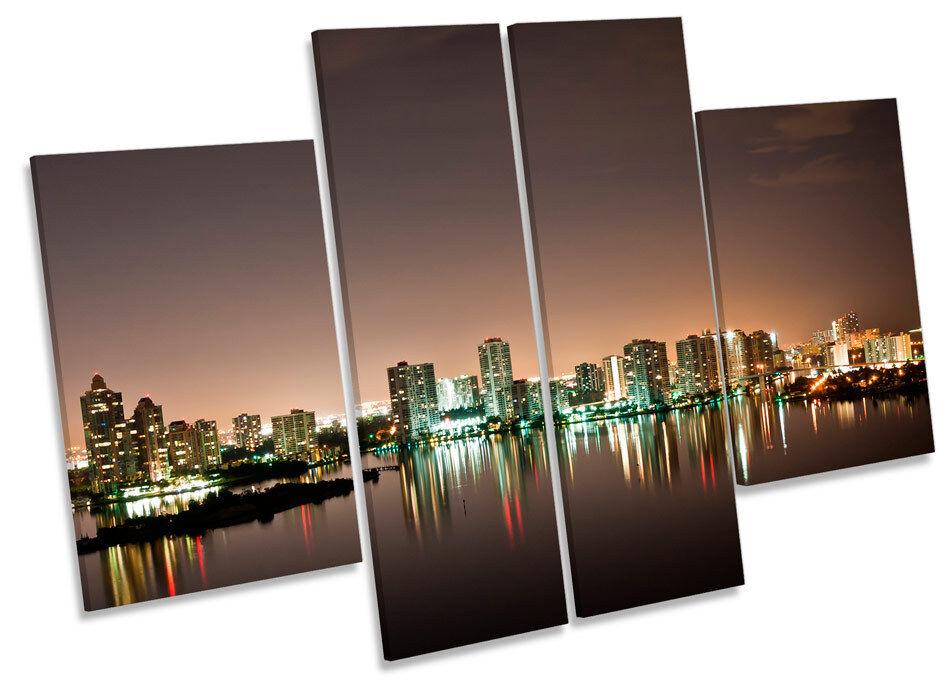 Sunny Isles Beach Aventura Skyline CANVAS WALL ART MULTI Panel Print Picture