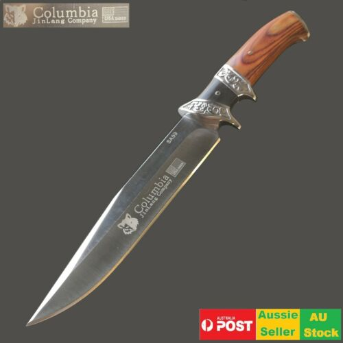 Survival Military Bowie Camping Hunting Tactical Full Tang Pig Sticker knife Au