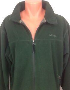 L-L-BEAN-Men-039-s-Polartec-Green-FLEECE-Full-Zip-Jacket-Size-L-Large