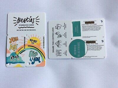 Geschenkkarte Starbucks Deutschland # 6166 Besties 2 mini Karten mit Sticker