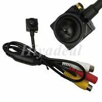 Mini CMOS 800TVL HD CCTV Wired Covert Screw Pinhole Camera Home Security Spy Cam