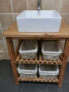 Handmade Rustic Bathroom Vanity, Handmade Bathroom Vanity