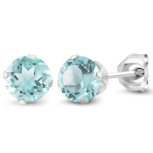 December-Birthstone-Sky-Blue-Topaz-Round-5mm-Stud-Earrings-925-Sterling-Silver