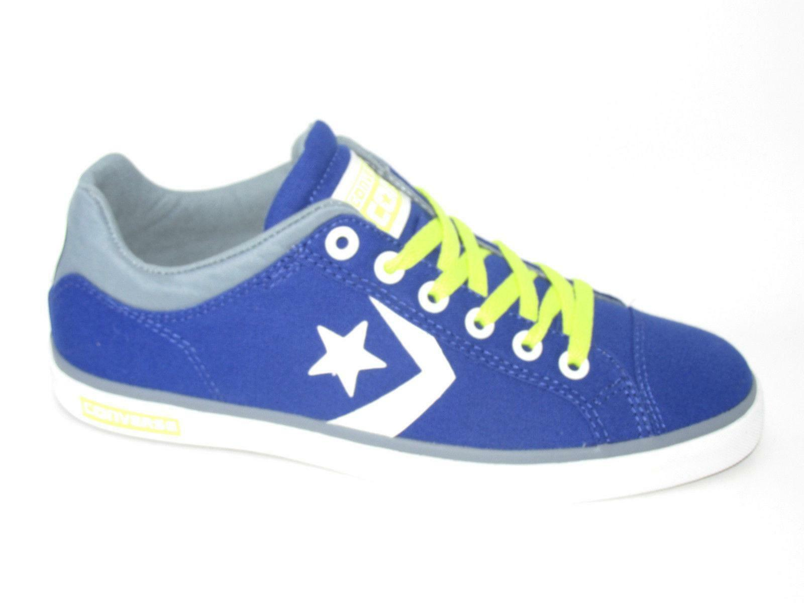 Mens CONVERSE STAR STREET OX bluee Canvas Trainers 145082F