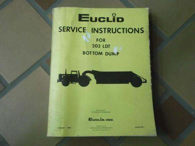 Euclid 203ldt B63 B70 Bottom Dump Quarry Truck Hauler Shop