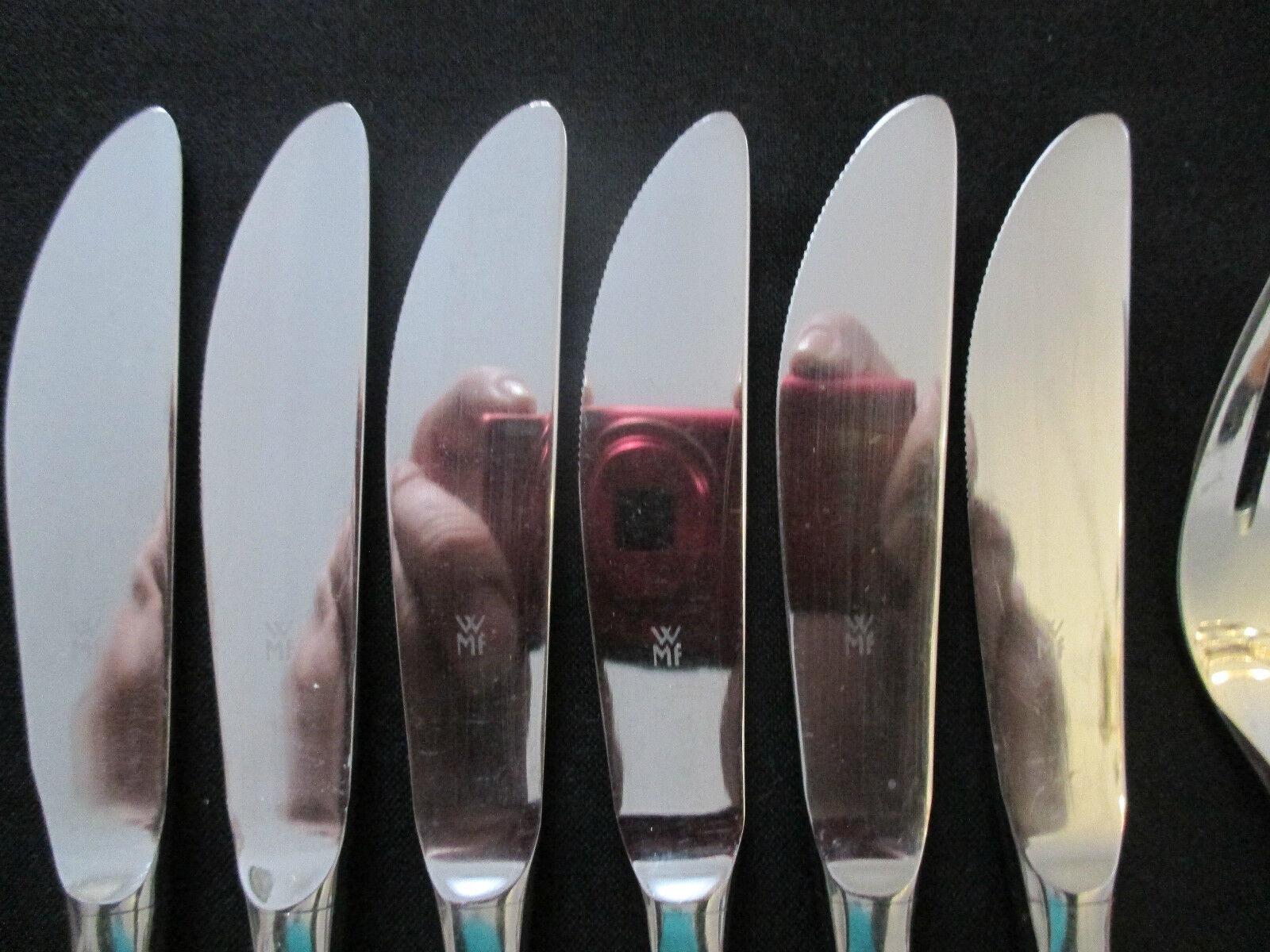 WMF Sevilla Cromargan 6 Menümesser 6 Personen 6 tlg Note 2-3 Tafelmesser Messer