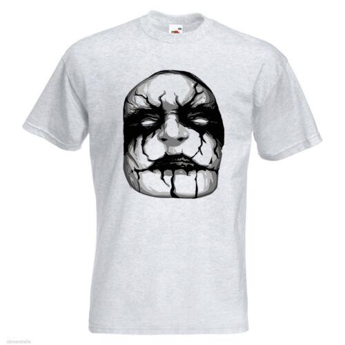 Black Metal Mens PRINTED T-SHIRT Art Face