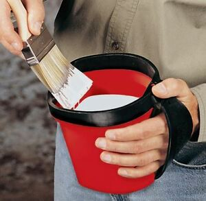 Paint Pail Bucket Adjustable Strap On Rubber Hand Grip