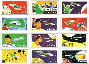 Vintage 1971 Star Trek complete Stamp Set of 12 Primrose ...