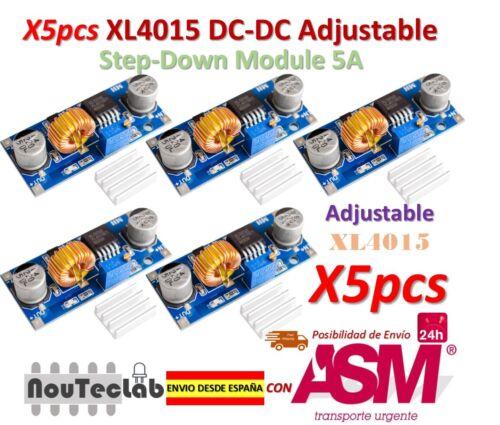 5pcs 5A XL4015 DC dc Schritt nach unten adjustable Stromversorgung Modul DEL