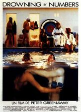 Affiche 40x60cm DROWNING BY NUMBERS 1988 Peter Greenaway - Joan Plowright TBE