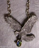 "Fantasy Necklace Eagle in Flight & color changing Orb with 18"" chain NEW"