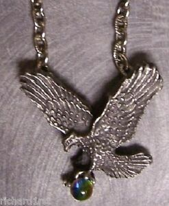 Fantasy-Necklace-Eagle-in-Flight-amp-Orb-w-18-034-chain-NEW