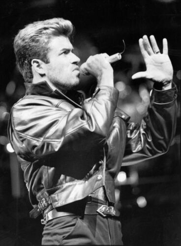 George Michael in Concert Album Art Canvas Wall Pop Art Poster Print Music Icon