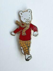 Vintage-Rupert-The-Bear-Hand-Enamelled-Badge-Pin-Brooch-Rainbow-Designs-VGC-1987
