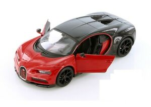 Maisto-Bugatti-Chiron-1-24-Diecast-Model-Toy-Car-34514-RED-New-without-Box