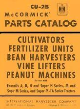 International Mccormick Vine Lifter For Farmall H M B Bn Tractor Parts Manual
