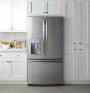 """GE Profile 36"""" Energy Star Qualified Counter-Depth French-door Refrigerator"""