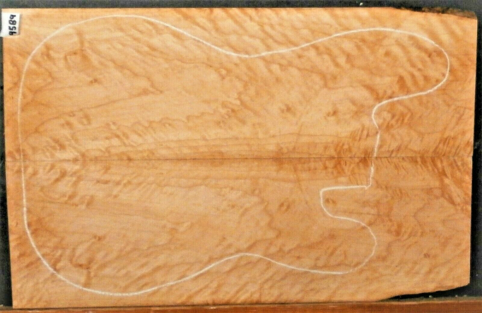 Tiger Figurot Curly Maple Wood 9589 Luthier 5A Guitar Top Set 22.5x 14.5x .500