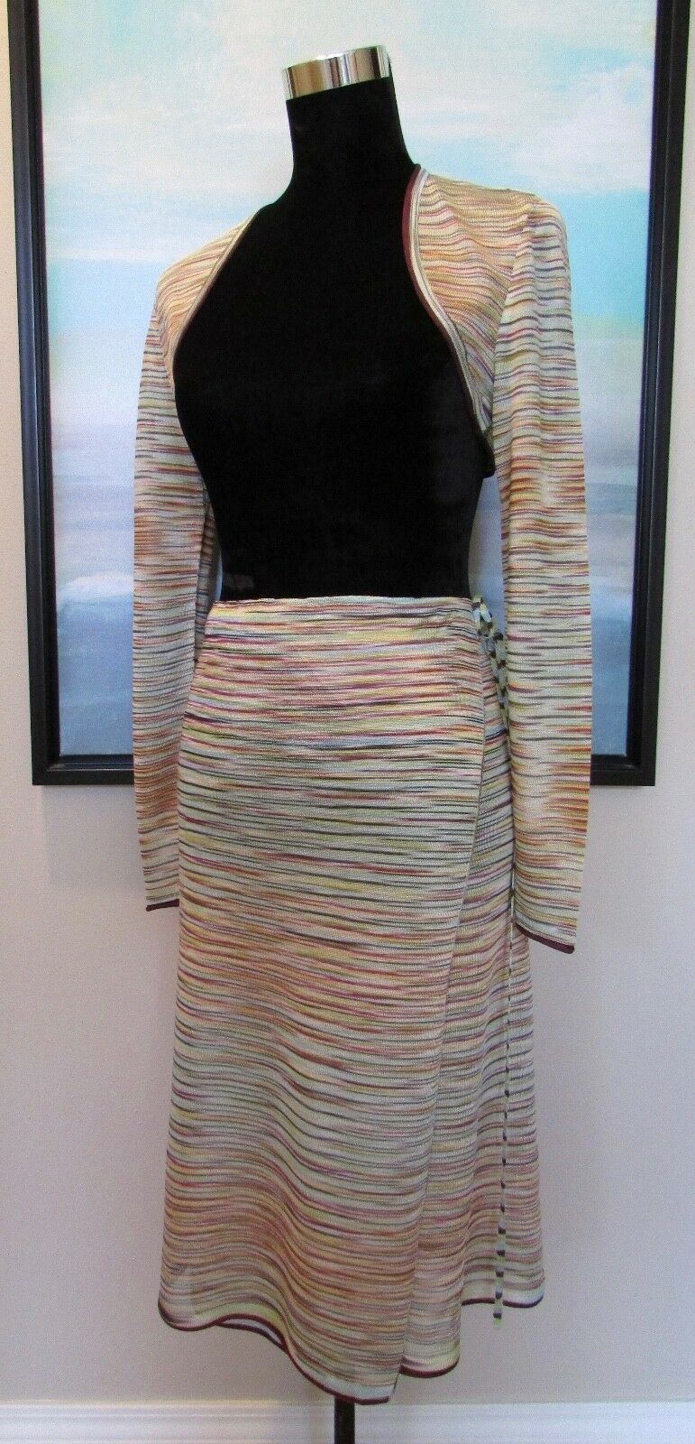 MISSONI  Swimwear Cover Up Wrap Skirt & Bolero Top Sz XS S