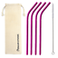 thumbnail 5 - Bent 4 Pack Stainless Steel Metal Straws Gift Set Reusable [Choose your Colour]
